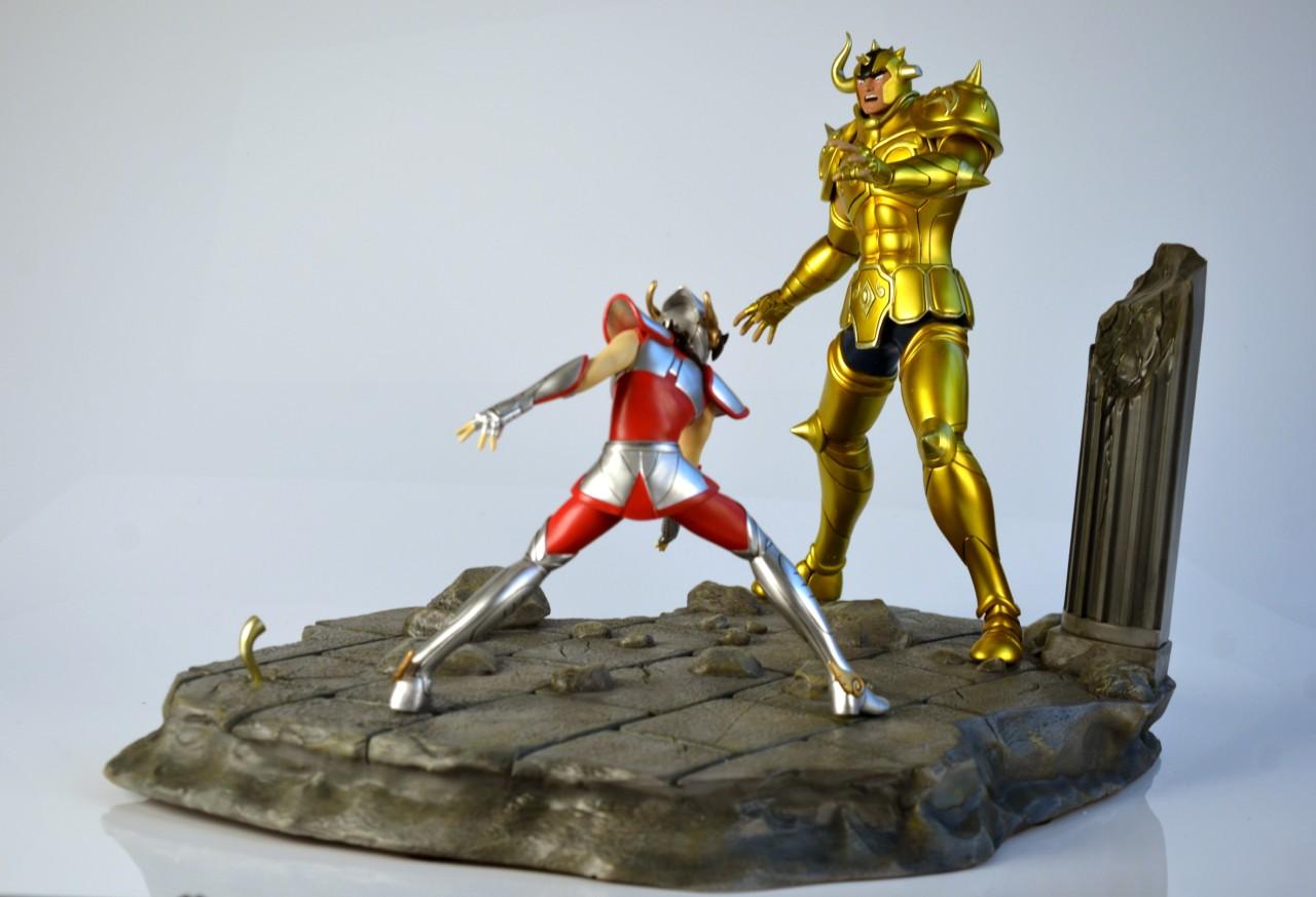 [Iron Studios] Diorama Seiya vs Aldebaran